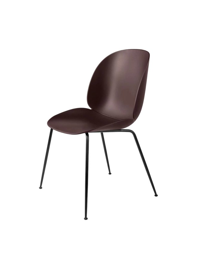 Beetle Dining Chair - Un-Upholstered, Conic base, Black Matt Base