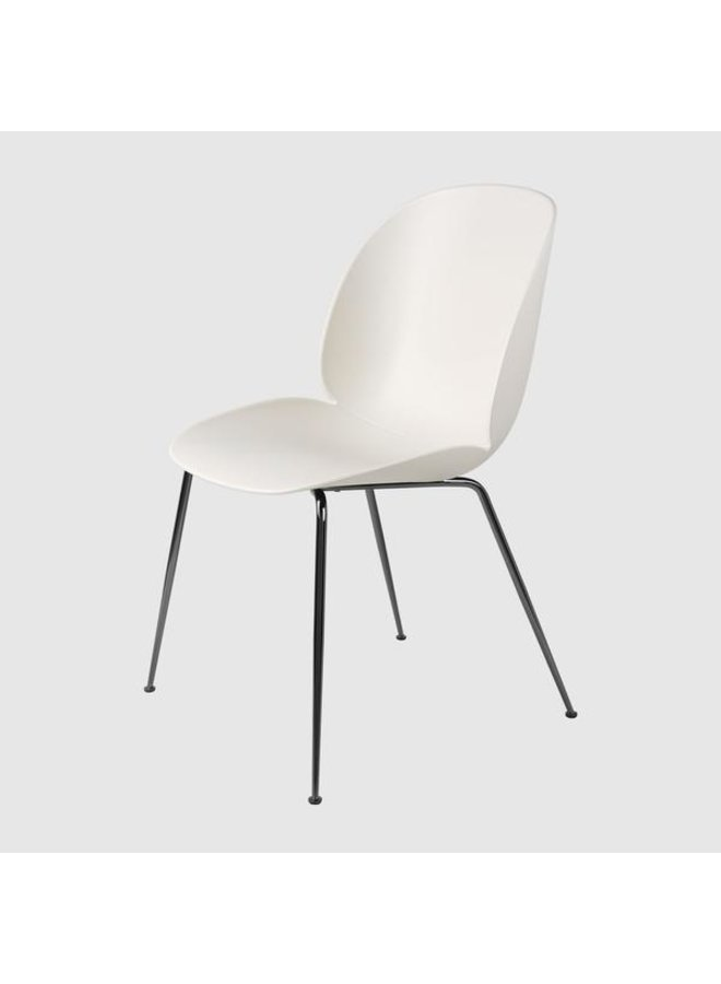 Beetle Dining Chair - Un-Upholstered, Conic base, Black Chrome Base