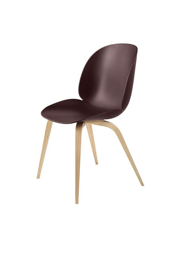 Beetle Dining Chair - Un-Upholstered, Wood base, Oak Semi Matt Lacquered Base