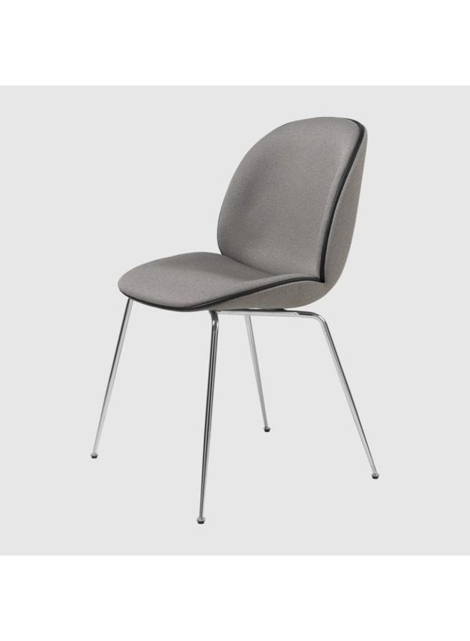Beetle Dining Chair - Fully Upholstered, Conic base, Chrome Base