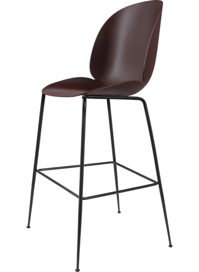 Beetle Bar Chair - Un-Upholstered, 75, Conic base, Black Matt Base