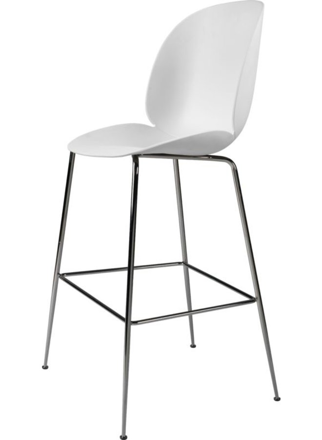 Beetle Bar Chair - Un-Upholstered, 75, Conic base, Black Chrome Base