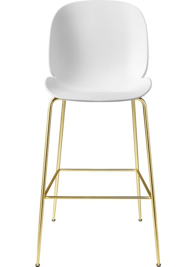 Beetle Bar Chair - Un-Upholstered, 75, Conic base, Brass Semi Matt Base