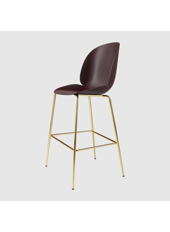 Beetle Bar Chair - Un-Upholstered, 75, Conic base, Antique Brass Base