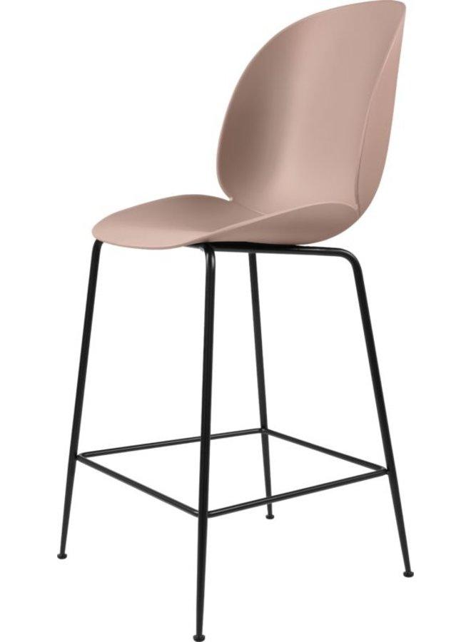 Beetle Counter Chair - Un-Upholstered, 65, Conic base, Black Matt Base