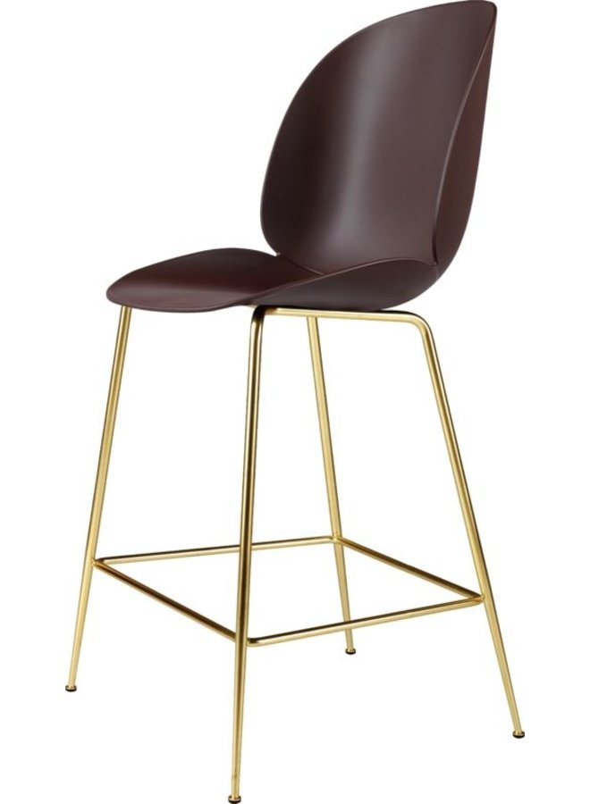 Beetle Counter Chair - Un-Upholstered, 65, Conic base, Brass Semi Matt Base