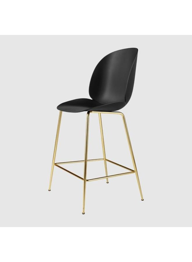 Beetle Counter Chair - Un-Upholstered, 65, Conic base, Antique Brass Base
