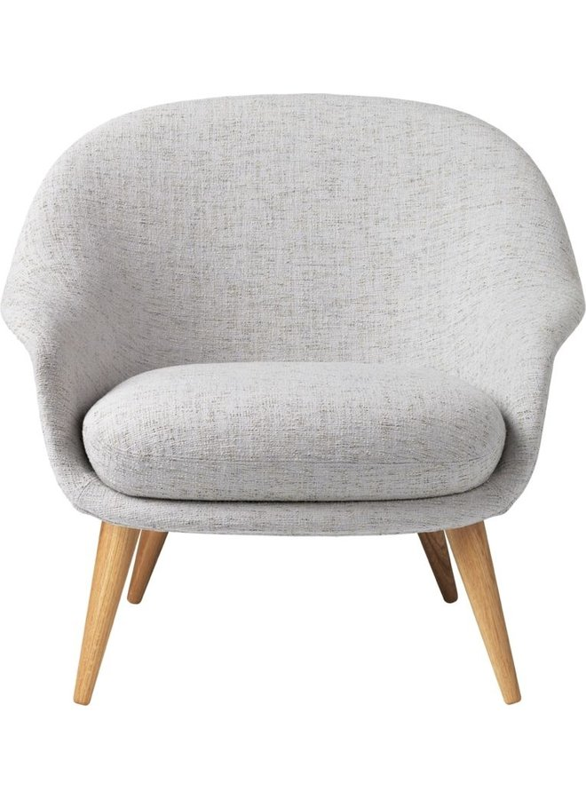 Bat Lounge Chair - Fully Upholstered, Low back, Wood base