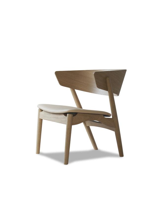 Sibast No 7 Lounge - Wooden backrest/upholstered seat