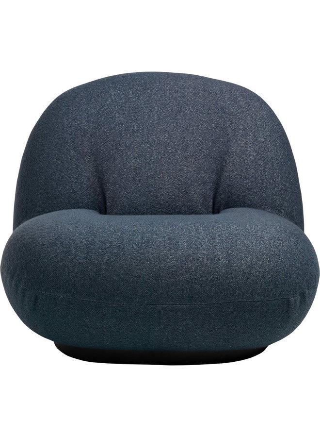 Pacha Lounge Chair - Fully Upholstered, Semi-Matte Black, Returning Swivel