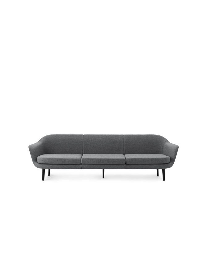 Sum Modular Sofa 3-Seater Aluminum