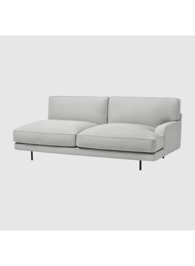 Flaneur Sofa - Fully Upholstered, 2-seater, Black Matt Base