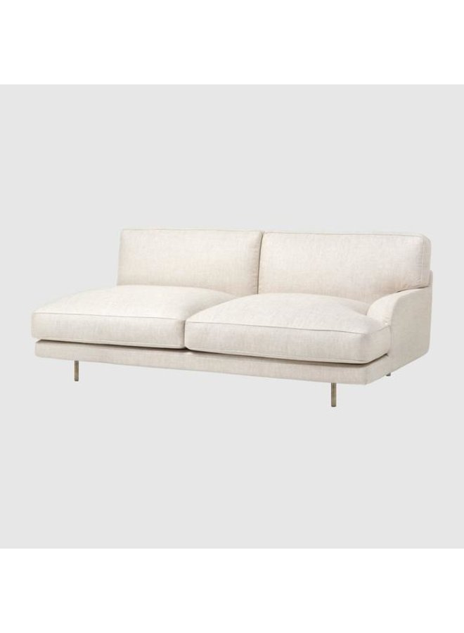 Flaneur Sofa - Fully Upholstered, 2-seater, Antique Brass Base