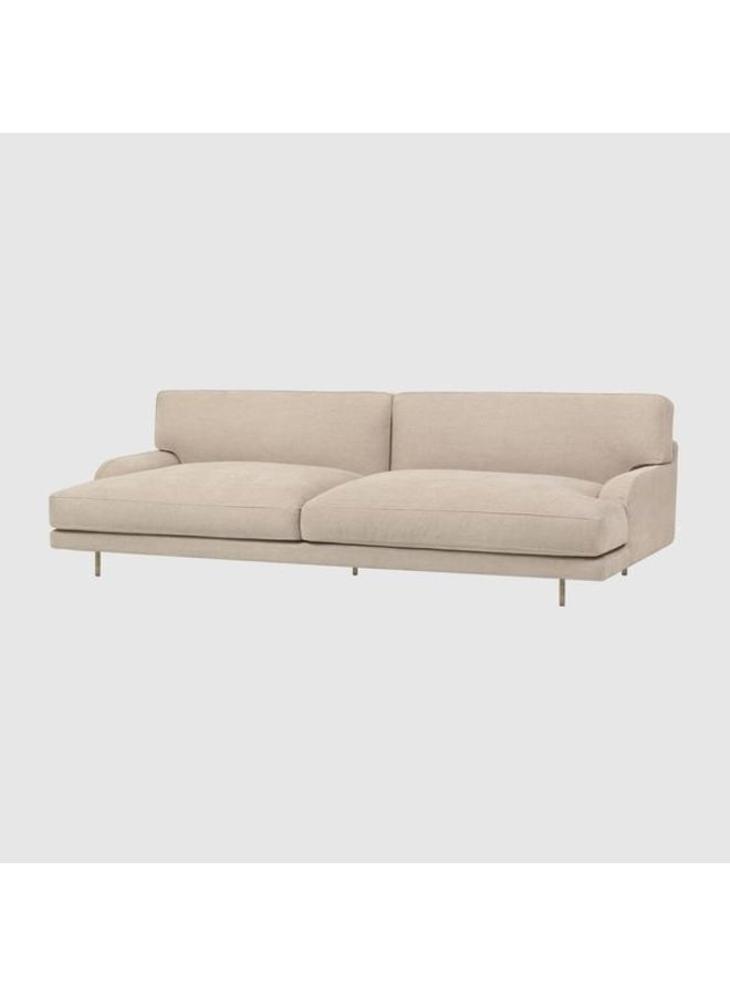 Flaneur Sofa - Fully Upholstered, 2.5-seater, Antique Brass Base