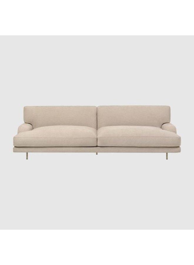 Flaneur Sofa - Fully Upholstered, 2,5-seater, Black Matt Base