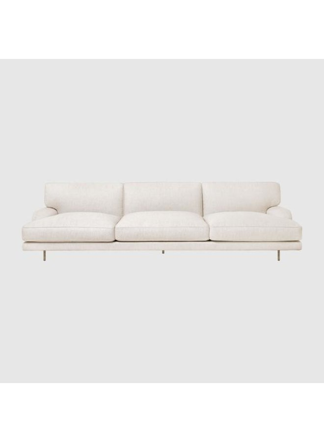 Flaneur Sofa - Fully Upholstered, 3-seater, Antique Brass Base