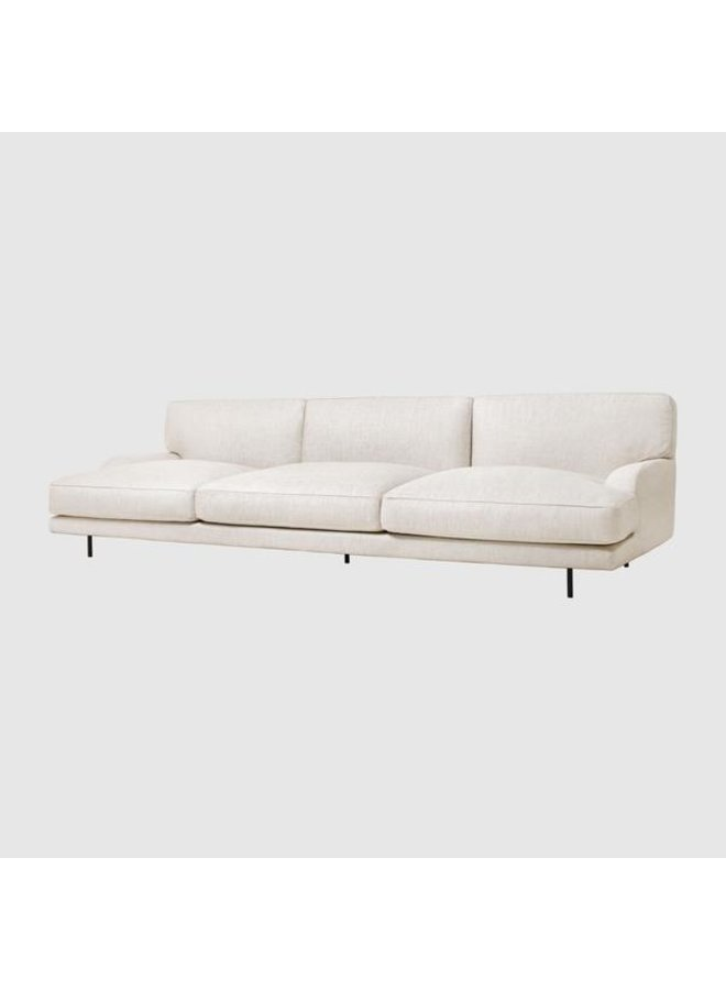 Flaneur Sofa - Fully Upholstered, 3-seater, Black Matt Base