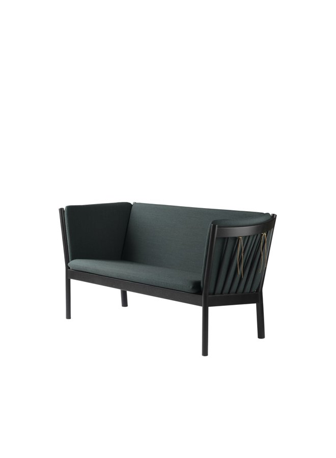 J148 - 2-person couch Black Stained Oak
