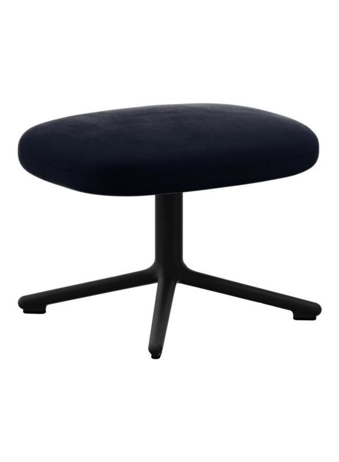 Era Footstool Black Alu