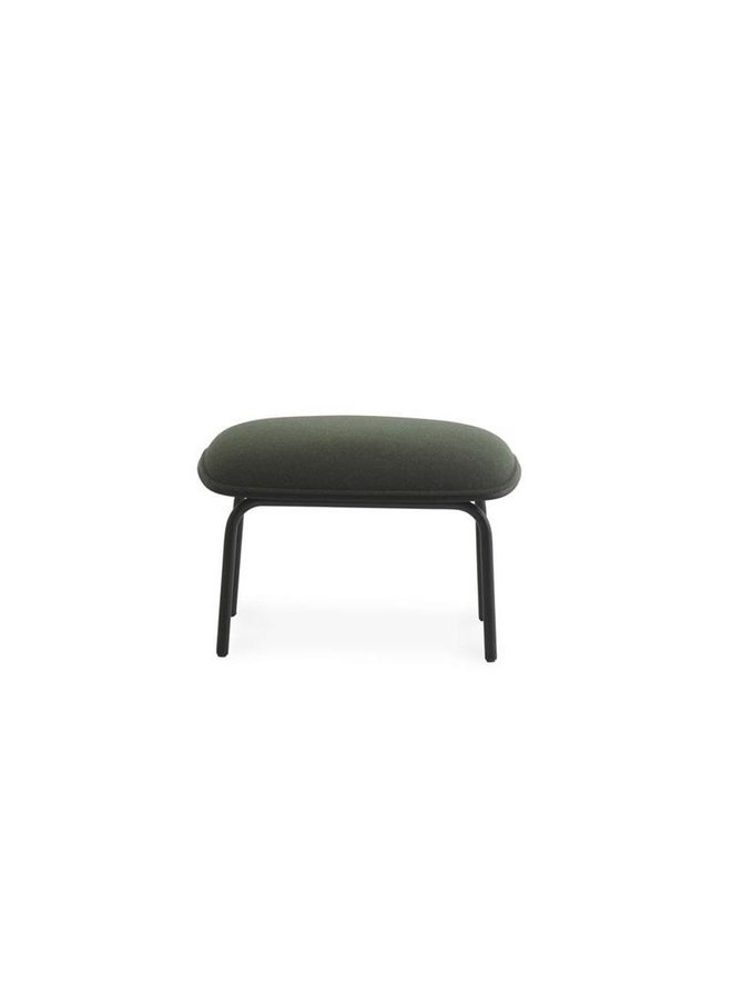 Pad Footstool Black Steel