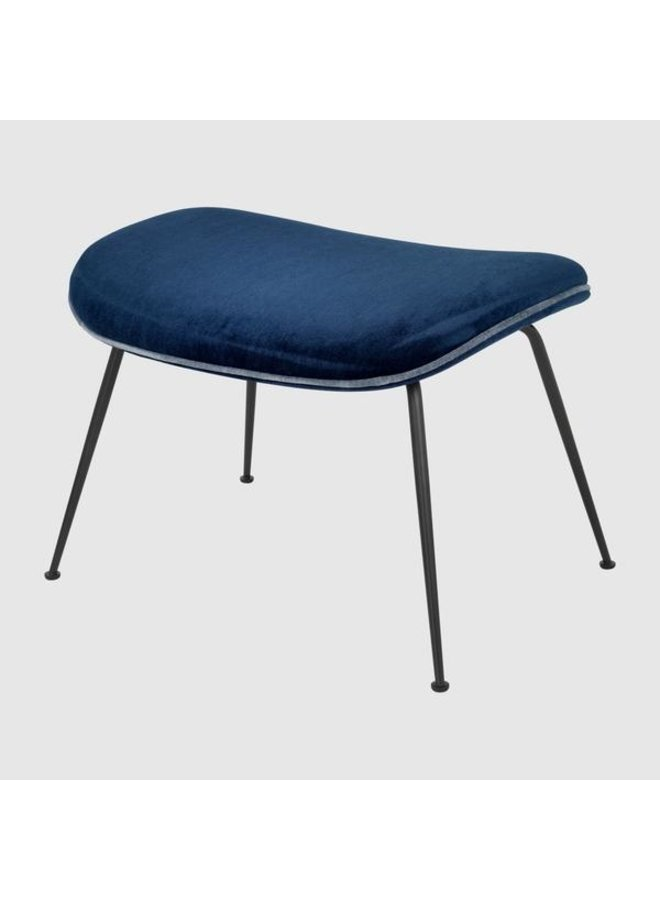Beetle Ottoman - Fully Upholstered, Conic base, Black Matt Base