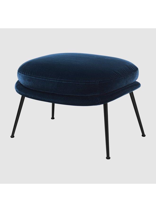 Bat Ottoman - Fully Upholstered, Conic base, Black Chrome Base