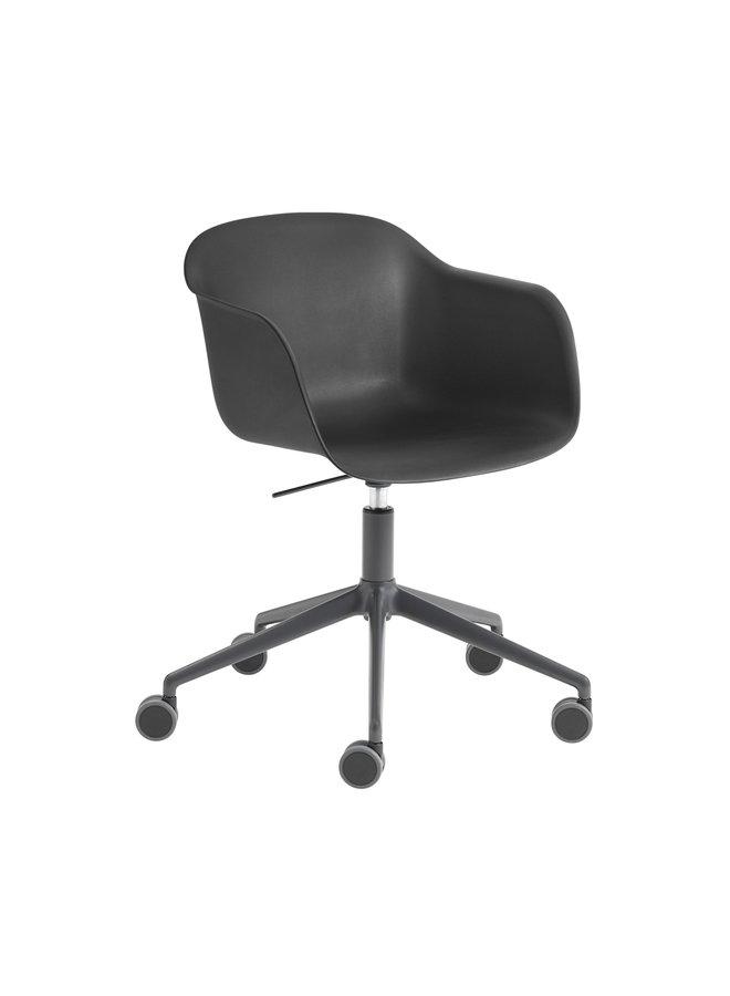 FIBER ARMCHAIR / SWIVEL BASE W. CASTORS & GAS LIFT