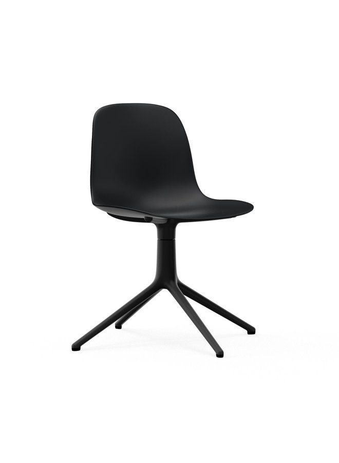 Form Chair Swivel 4L Black Alu