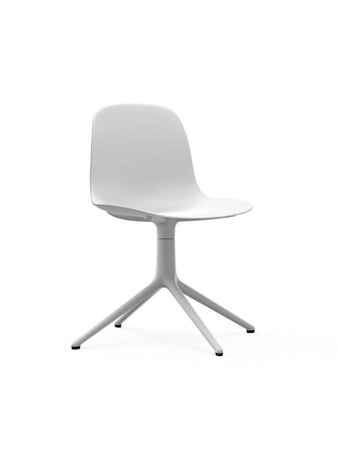 Form Chair Swivel 4L White Alu