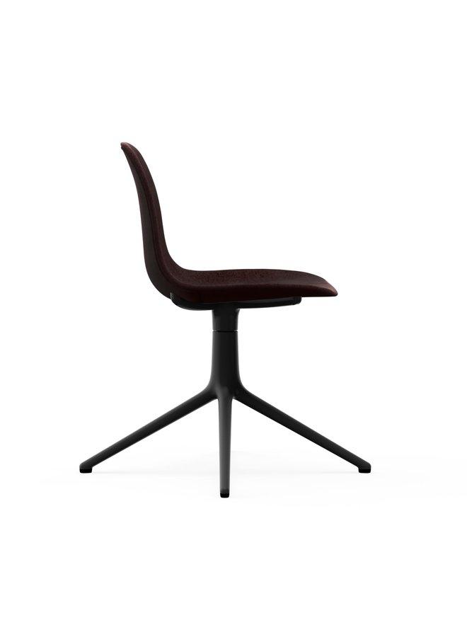 Form Chair Swivel 4L Full Uph. Black Alu