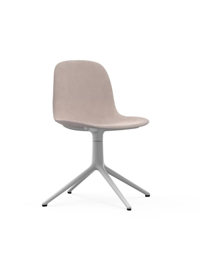 Form Chair Swivel 4L Full Uph. White Alu