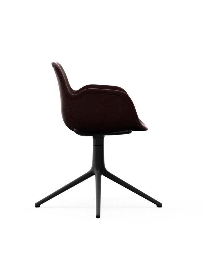 Form Armchair Swivel 4L Full Uph. Black Alu
