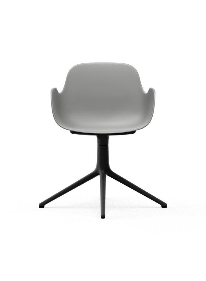 Form Armchair Swivel 4L Black Alu