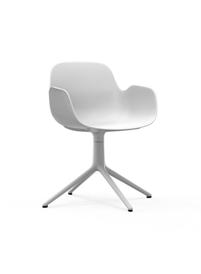 Form Armchair Swivel 4L White Alu