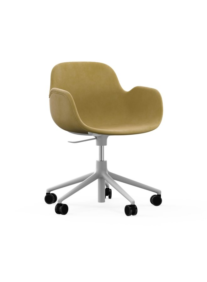 Form Armchair Swivel 5W Gaslift Full Uph. White Alu