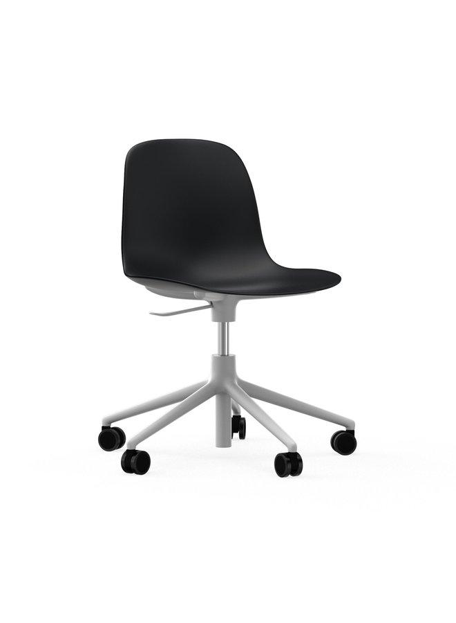 Form Chair Swivel 5W Gaslift White Alu
