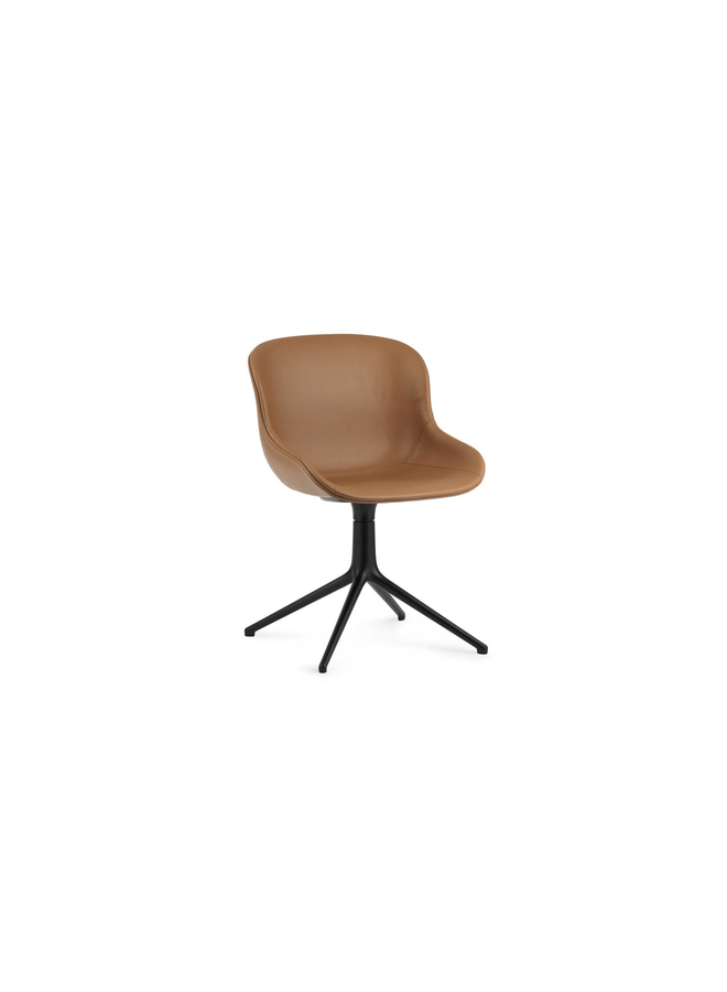 Hyg Chair Swivel 4L Full Upholstery Black Alu