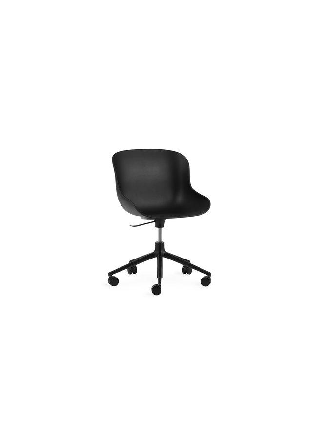 Hyg Chair Swivel 5W Gaslift Black Alu