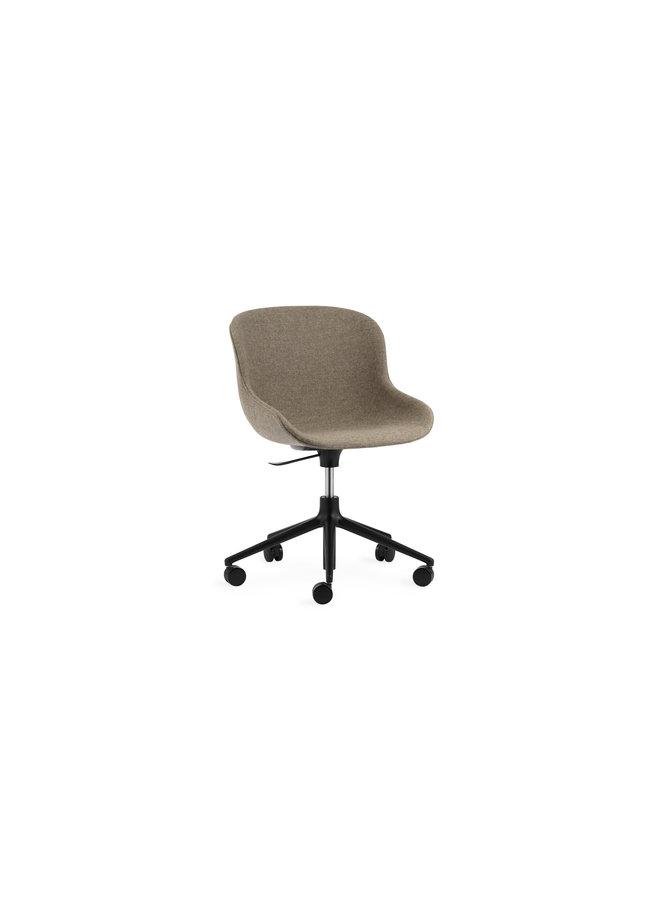 Hyg Chair Swivel 5W Gaslift Full Upholstery Black Alu
