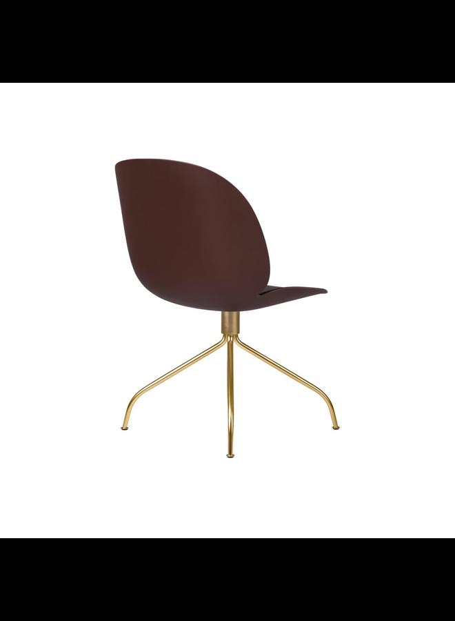 Beetle Meeting Chair - Un-Upholstered, Swivel base, Black Semi Matt Base
