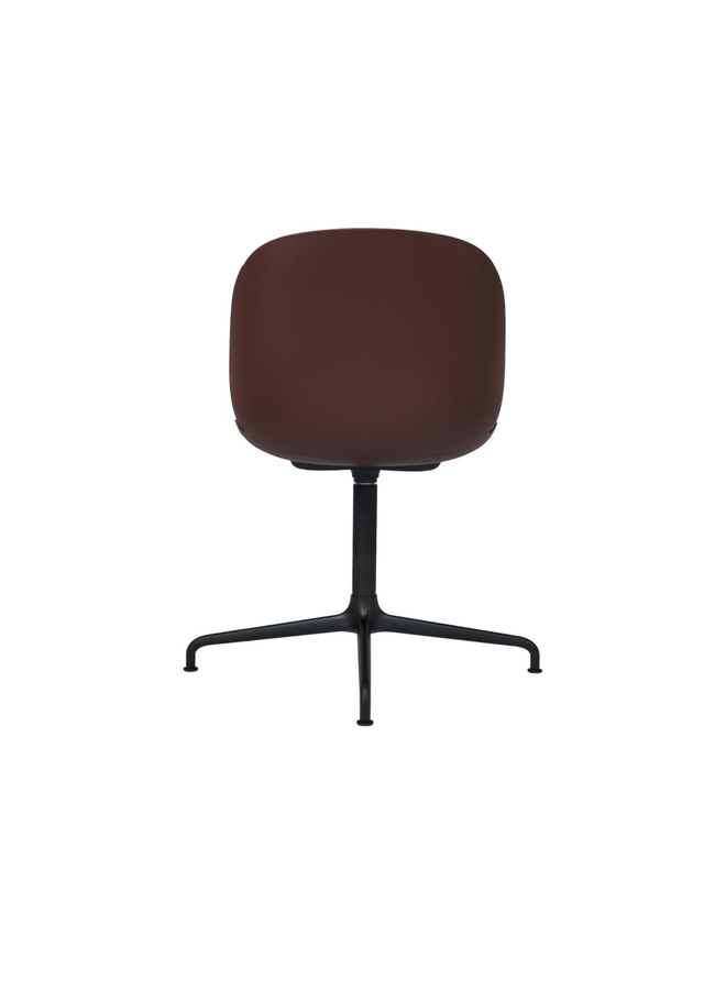 Beetle Meeting Chair - Un-Upholstered, 4-star base, Black Matt Base