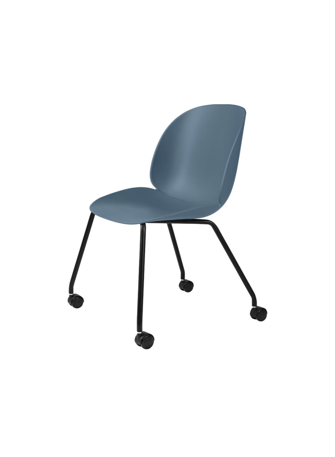 Beetle Meeting Chair - Un-Upholstered, 4 legs w. castors