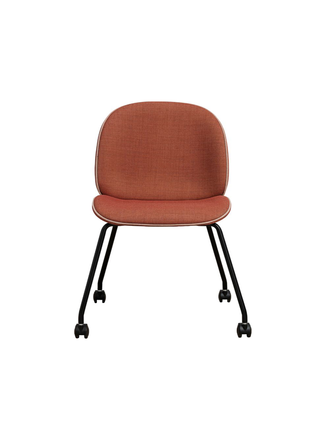 Beetle Meeting Chair - Fully Upholstered, 4 legs w. castors