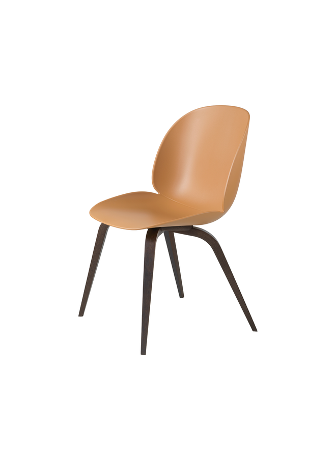 Beetle Dining Chair - Un-Upholstered, Wood base, Smoked Oak Matt Lacquered