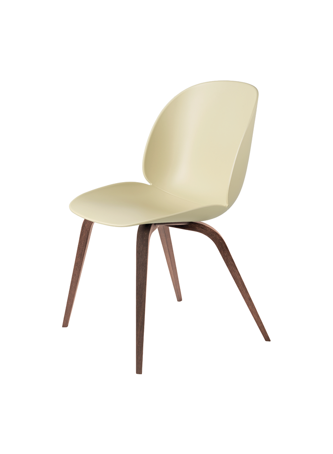 Beetle Dining Chair - Un-Upholstered, Wood base, American Walnut Matt Lacquered Base