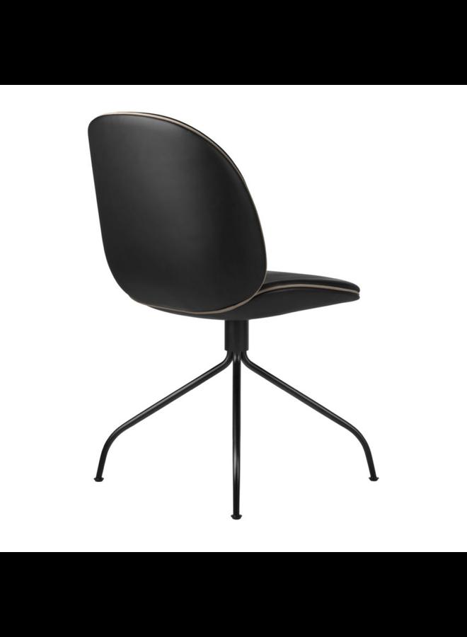 Beetle Meeting Chair - Fully Upholstered, Swivel base, Black Matt Base