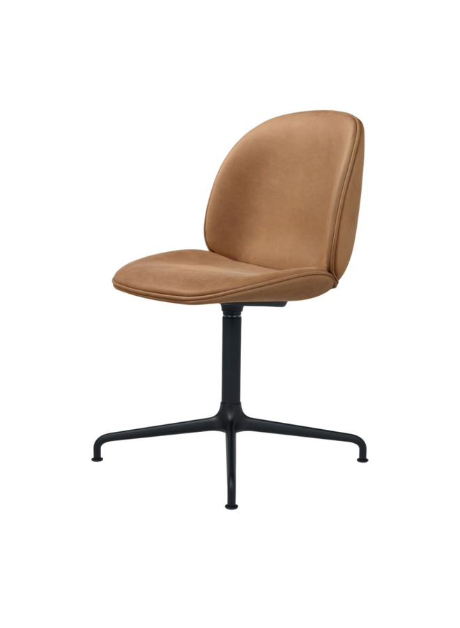 Beetle Meeting Chair - Fully Upholstered, 4-star base, Black Matt Base