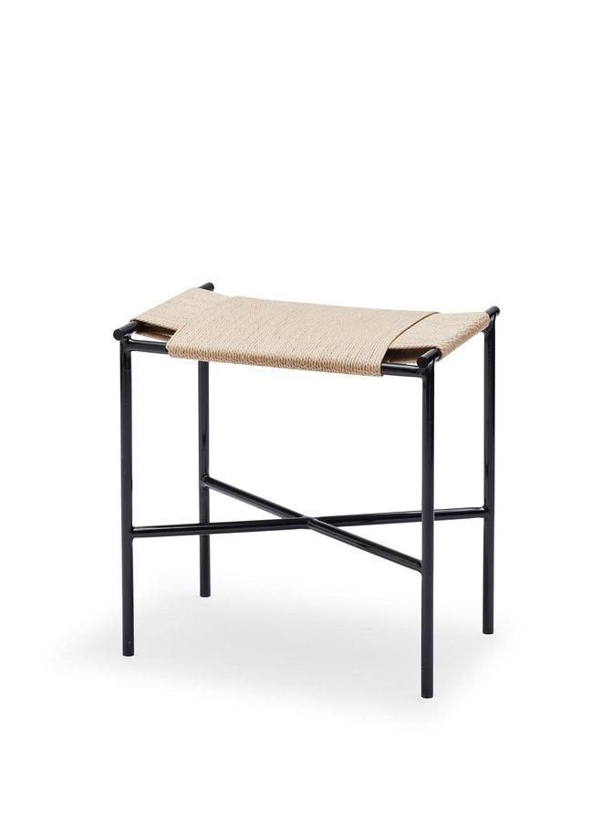 Vent stool, Black/neutral paper cord
