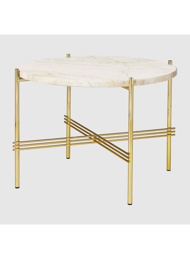 TS Coffee Table - Round, Ø55, Brass base