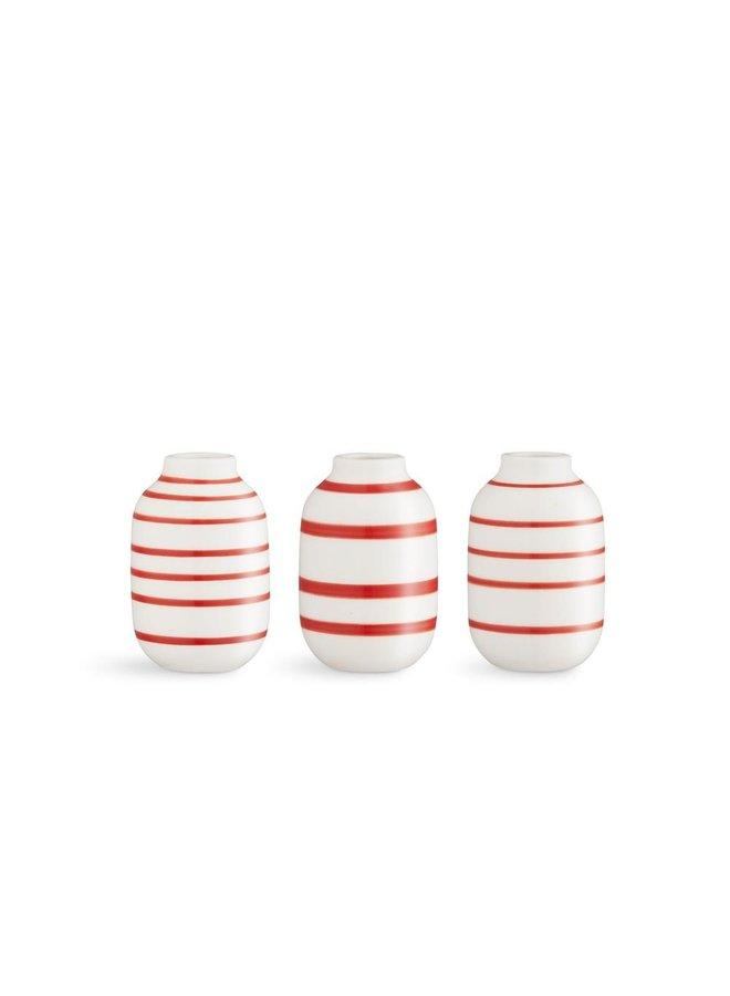 """Omaggio Vase H8 (3.2""""), 3pcs."""